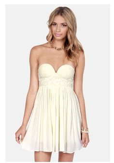 Lulu's with our summery tube top dress.