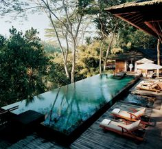 Tirta Ening Pool at Como Shambhala Estate. Bali, Indonesia.