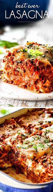 The Best Lasagna Recipe ever! I will never make another lasagna recipe again! It's rich, satisfying, comforting, flavorful, and perfectly. Entree Recipes, Easy Dinner Recipes, Pasta Recipes, Beef Recipes, Cooking Recipes, Healthy Recipes, Noodle Recipes, Best Lasagna Recipe, Homemade Lasagna