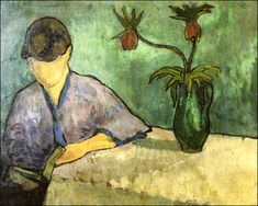 Young Woman in Kimono, Reading, Emille Bernard