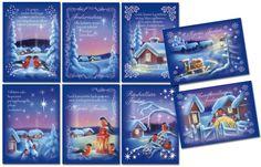 Blue Scenery, 2015, Christmas card-originals as cards