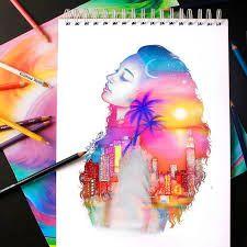 Resultado de imagen para tumblr drawings colors