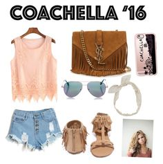 """""""Coachella 2016 look"""" by poppysangster ❤ liked on Polyvore featuring Qupid, Yves Saint Laurent, Cutler and Gross, Casetify and Carole"""