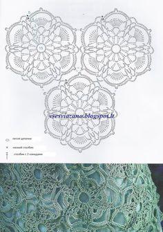 Captivating Crochet a Bodycon Dress Top Ideas. Dazzling Crochet a Bodycon Dress Top Ideas. Crochet Collar Pattern, Crochet Motifs, Crochet Diagram, Crochet Chart, Crochet Squares, Thread Crochet, Crochet Granny, Irish Crochet, Crochet Doilies