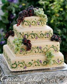 Grape vine cake