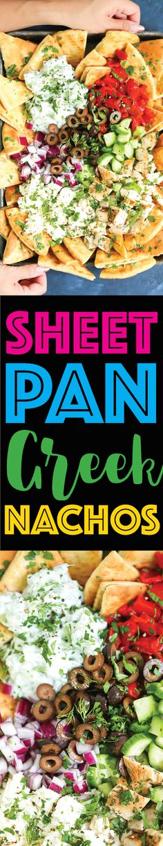 Sheet Pan Greek Nach