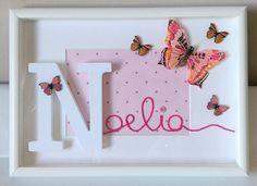 Auguri per i tuoi primi sei mesi Noelia!!! #intrecciamo❤ #quadrettipersonalizzati #farfalla #butterfly #butterflies