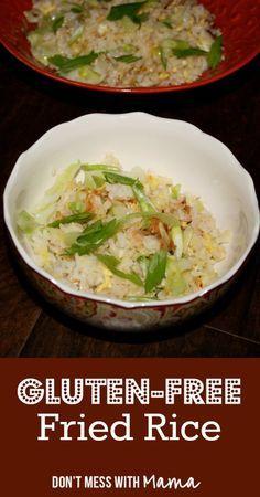 Gluten-Free, Soy-Fre     Gluten-Free, Soy-Free Fried Rice  #glutenfree  -  DontMesswithMama.com