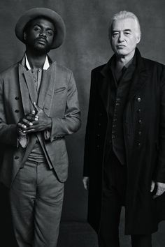 Jimmy Page and Gary Clark Jr. by Danny Clinch