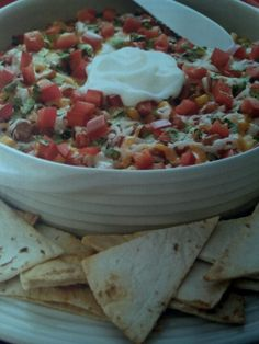Pampered chef mexican bean dip