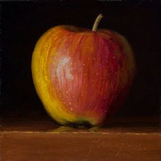 Daily painting, a painting a day, contemporary still life landscape small work of art by Youqing Eugene Wang, Y. School Art Projects, Art School, Apple Painting, Fruit And Veg, Still Life, Pears, Apples, Fine Art, Landscape