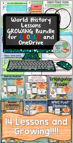 This Google Classroom and Microsoft One Drive world history bundle is packed with interactive digital activities for your students. They will analyze sources, interact with notes, create paperless flipbooks, and more! You will get an explanatory PDF with a link to the documents and lots of time away from the copy machine.