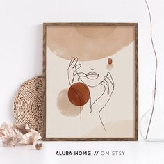 Face Line Drawing, Face Lines, Woman Illustration, Abstract Faces, Modern Wall Art, Woman Face, Wall Prints, Printable Art, Line Art