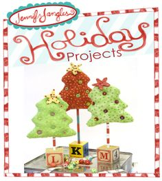 Jennifer Jangles Blog: Stuffed Christmas Trees Tutorial,   Take the dowel off, sew in a hanger and you have an adorable ornament.