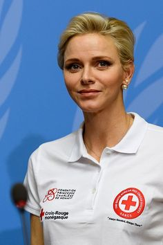 Princess Charlene of Monaco is goodwill ambassador for the International Federation of Red Crosses and Red Crescents Societies (IFRC) for first aid - a cause she is passionate about as a former professional swimmer.