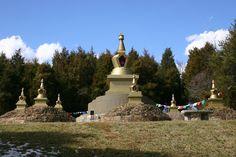 Jetsunma Ahkon Lhamo's Long Life Stupas at KPC-MD's Peace Park