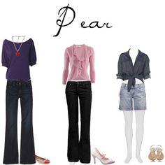 pants for pear shape | Jeans for pear shaped women. Read the article for all other body types ...
