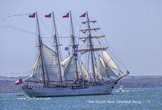 Esmeralda - tall ship raising sails and leaving Auckland. Auckland New Zealand, Armada, Tall Ships, Yachts, Sailing Ships, Boats, Tutorials, Tech News, Raising