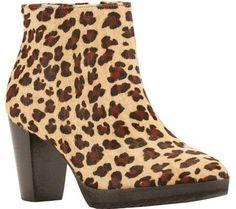 Walking Cradles Women's Tenacious Bootie Baby Leopard Hair Calf Size 12 M, Multi