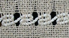 esto es de encaje español del sitio web muestra cómo hacer los tejedores manipulado tejidos de encaje