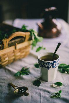 Honeysuckle tea in a ceramic cup by Art et Manufacture Ceramics on Etsy. #LocalMilk