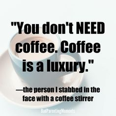 Coffee Stirrers - Helpful Advice For Everyone Looking To Brew A Good Pot Of Coffee! Coffee Puns, Coffee Talk, Need Coffee, Coffee Is Life, Coffee Humor, Coffee Quotes, My Coffee, Coffee Drinks, Morning Coffee