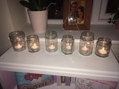 Painted candle jars