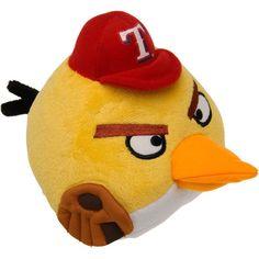 Texas Rangers Angry Birds Hat Plush