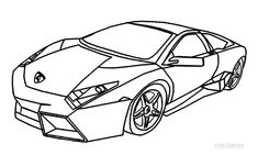 High Quality Printable Lamborghini Coloring Pages For Kids | Cool2bKids