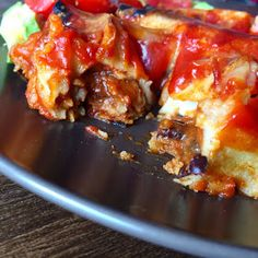 Mute Food: Enchiladas de soja texturizada (preparación: 30 min/ cocción: 1 hora)