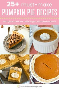 The Best Pumpkin Pie Recipes Holiday Desserts, Fun Desserts, Dessert Recipes, Best Pumpkin Pie Recipe, Pumpkin Recipes, Easy Gluten Free Desserts, Homemade Desserts, Nutritious Snacks, Everyday Food