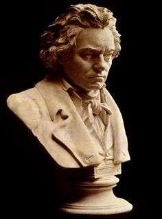 A bust of Ludwig van Beethoven.  Have one on my bookshelf.  Love Ludwig.