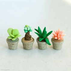 polymer clay cactus plants.