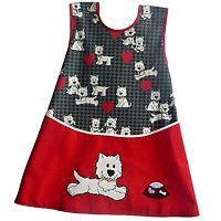 Zástěrka s pejsky / Zboží prodejce CIRO design Apron, Sewing, Crochet, Dressmaking, Couture, Stitching, Ganchillo, Sew, Crocheting