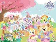 Friends Wallpaper, Disney Wallpaper, Wallpaper Backgrounds, Duffy The Disney Bear, Tokyo Disney Sea, April 4th, Bear Art, Disney Dream, Girl Cartoon