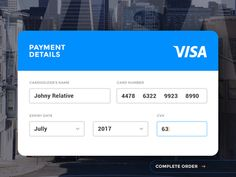 Ui Elements   Credit Card Payment  Ui Ux Ui Design And Ui Ux