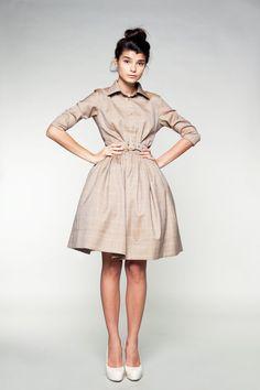 Beige Woolen Dress by Mrs Pomeranz by mrspomeranz on Etsy