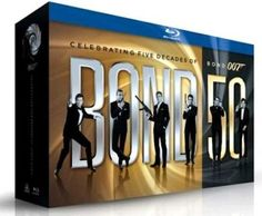 James Bond The Complete Collection - Anniversary (Blu-ray disc, Boxed set) / Actor: Sean Connery / Actor: Roger Moore / Actor: Timothy Dalton / Actor: Pierce Brosnan / Actor: Daniel Craig / Actor: George Lazenby ; Roger Moore, Sean Connery, Daniel Craig, George Lazenby, Blu Ray Collection, Movie Collection, Ultimate Collection, Classic Collection, Timothy Dalton