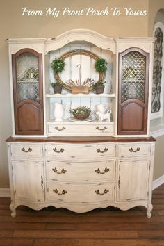 From My Front Porch To Yours: French Country Hutch Reveal