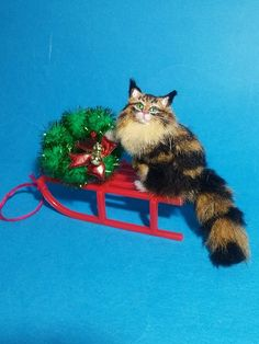 OOAK Realistic maine coon cat Dollhouse Handmade by ewelina IGMA member in Dolls & Bears, Dolls' Miniatures & Houses, Hand-Made Items | eBay!