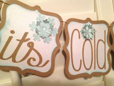 Baby It's Cold Outside Christmas Banner by LetsWearDresses on Etsy, $32.00