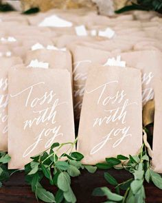"A Fun-Filled Farm Wedding in Tennessee | Martha Stewart Weddings - Guests were given envelopes of eco-friendly confetti to toss as the couple entered cocktail hour. ""That was a total surprise, and it ended up being one of my favorite memories,"" says Eric. ""Everyone was lined up and cheering and just so happy for us."""