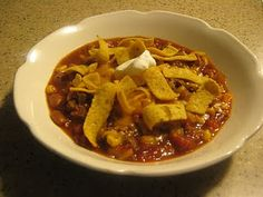"""Taco Soup"" at Carey's Farmhouse Kitchen.  Perfect for a winter day!  Thanks, Carey!"