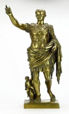 19TH CENTURY BRONZE OF AUGUSTUS CAESAR : Lot 27