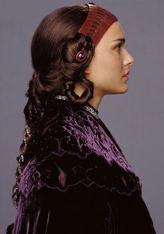 Star Wars Padme Burgundy Velvet Dress - Side view