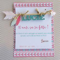 Carton d'invitation anniversaire indienne par Riveli www.scrapines.fr