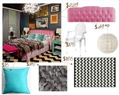 Style Within Reach Decorating Glam Look For Less Blue Bedroom Dream