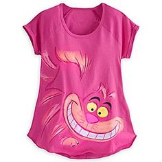 Disney Cheshire Cat Raglan Tee for Women | Disney StoreCheshire Cat Raglan Tee for Women - Cheshire Cat takes the spotlight on this glittery top that's certain to bring a smile to your face.
