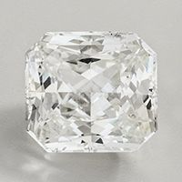 Radiant cut, Certified Unheated Untreated White Sapphire 2.25 carats