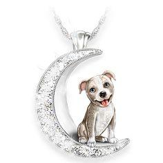Dog Jewelry, Women Jewelry, Jewelry Design, Fine Jewelry, Jewellery, Crescent Dogs, Dog Necklace, Pendant Necklace, Diamond Are A Girls Best Friend